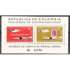 1959 Colombia Mi.897-898/B17 Planes 15,00 €