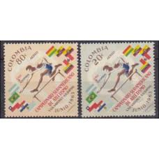 1963 Colombia Mi.1045-1046 Sport 0,60 €