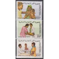 1986 Comores Islands Mi.781-783 MEDICINE 4,00