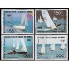 1983 Comores Islands Mi.686-689 1984 Olympiad Los Angeles 11,00