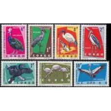 1963 Congo (Kinshasa} Mi.112-118 Protected birds 5,50 €