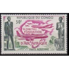 1961 Congo (Brazzaville) Mi.12 Planes