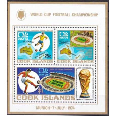 1974 Cook Islands Mi.419-421/B36 1974 World championship on football of Munchen 4,50 €