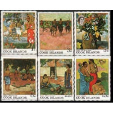 1967 Cook Islands Mi.170-175 Paintings 3,80 €