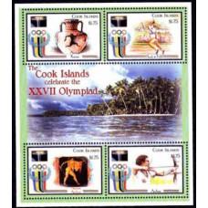 2000 Cook Islands Mi.1504-1507KL 2000 Olympics in Sydney 10,00 €