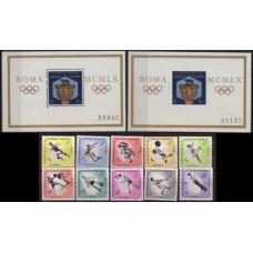 1960 Costa Rica Michel 570-9+580/B46+B46b 1960 Olympiad Rim 30.00 €