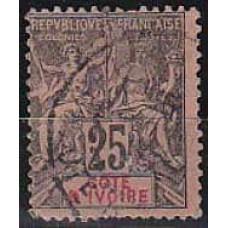1892 Cote D'ivoire R.de Michel 8 used 8.50 €