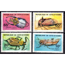 1978 Cote D'ivoire R. de Mi.562-565 Insects 11.00 €