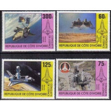 1981 Cote D'ivoire R. de Michel 680-683 Viking Lander / Space Shuttle 6.00 €