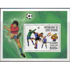 1981 Cote D'ivoire R. de Michel 700/B19 1982 World championship on football of Spanien 5.00 €
