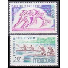 1968 Cote D'ivoire R. de Mi.331-332 1968 Olympic Mexico 3,80 €