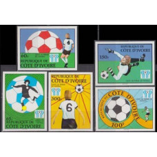 1978 Cote D'ivoire R. de Mi.552-556b 1978 World championship on football of Argentina 20,00 €
