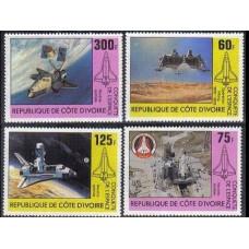 1981 Cote D´ivoire R. de Mi.680-683 Viking Lander / Space Shuttle 6.00
