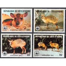 1985 Cote D'ivoire R. de Mi.881-884 WWF 55,00