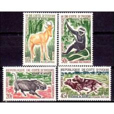 1963 Cote D'ivoire R. de Mi.251-254 Fauna 13.00 €