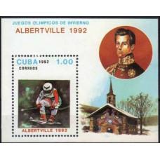 1992 Cuba Mi.3546/B126 1992 Olympics Albertville 3,20 €