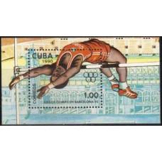 1990 Cuba Mi.3369/B118 1992 Olympiad Barselona 3,50 €