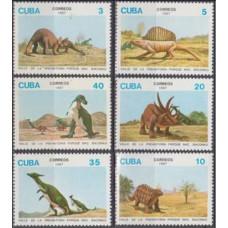 1987 Cuba Mi.3109-3114 Dinosaurs 6,00 €