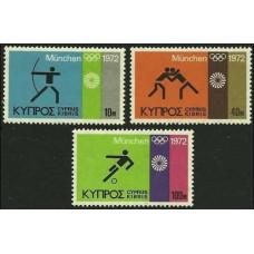 1972 Cyprus Mi.377-379 1972 Olympiad Munhen 1.50 €