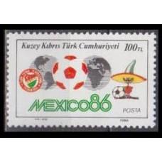 1986 Cyprus (Turkish) Mi.190 1986 World championship on football of Mexico 0,70 €