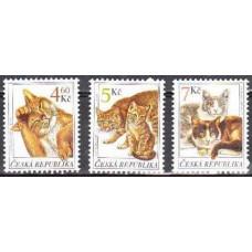 1999 Czech Republic Mi.204-206 Cats 1,50 €