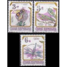 1995 Czech Republic Mi.73-75 Insects 2,00 €