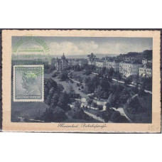 1937 Czechoslovakia Maximum card Marienbad rare