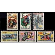 1964 Czechoslovakia Mi.1488-1493 1964 Olympiad Tokio 10,00 €