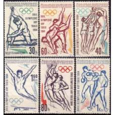 1963 Czechoslovakia Mi.1432-1437 1964 Olympics Tokyo 6,50 €