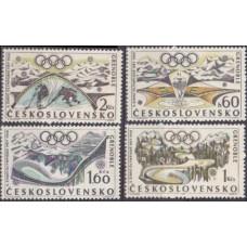 1968 Czechoslovakia Mi.1763-1766 1968 Olympics Grenoble 3,80 €