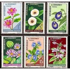 1967 Dahomey Mi.298-303 Flowers 6.00 €