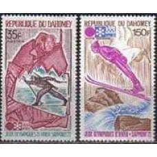 1972 Dahomey Mi.470-471 1972 Olympiad Sapporo 6,50 €