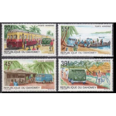 1968 Dahomey Mi.356-359 Transport 7,00 €