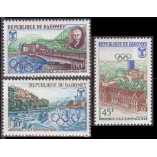 1967 Dahomey Mi.325-327 1968 Olympics Grenoble 4,40 €