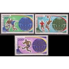 1970 Dahomey Mi.414-416 1970 World championship on football of Mexico 6,50 €