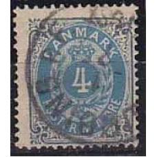 1875 Denmark Michel 23 IYA used 10.00 €