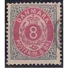 1875 Denmark Michel 25 IIYAc used 150.00 €