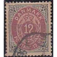 1875 Denmark Michel 26 IYAa used 15.00 €