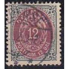 1875 Denmark Michel 26 IIYAb used 3.20 €