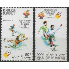 1981 Djibouti Mi.290-291 1982 World championship on football of Spanien 6,00 €
