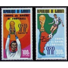 1978 Djibouti Michel 220-221 1978 World championship on football of Argentina 8.00 €