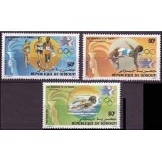 1984 Djibouti Mi.409-411 1984 Olympiad Los Angeles 4,20 €