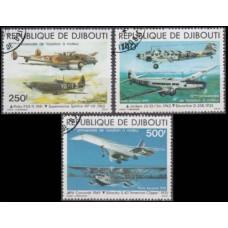 1979 Djibouti Mi.248-250 used Planes 10,00 €