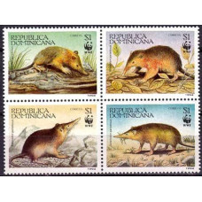 1994 Dominican Republic Mi.1698-1701 WWF 4.00 €