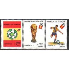 1981 Ecuador Michel 1909-1911 1982 World championship on football of Spanien 4.40 €