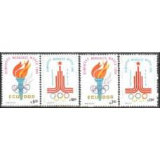 1980 Ecuador Michel 1864-1867 1980 Olympiad Moskva 3.60 €