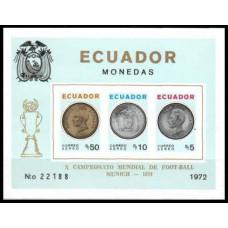1974 Ecuador Michel B65b 1974 World championship on football of Munchen 95.00 €