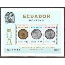 1974 Ecuador Michel B65 1974 World championship on football of Munchen 95.00 €