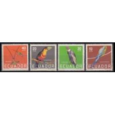 1958 Ecuador Mi.956-959 Tropical birds 10,00 €