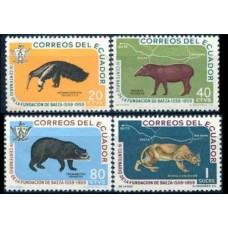 1960 Ecuador Mi.1021-1024 Fauna 6,50